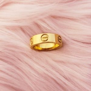 lilac garden Jewelry - Screw love ring Gold